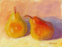 Pear Study at Sunset