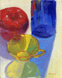 Still Life with Colored Glass #1